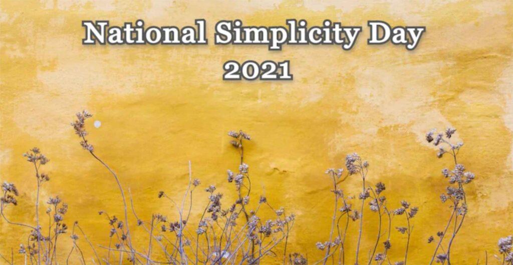 World Simplicity Day 2021